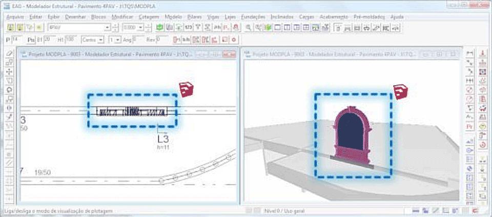 Objeto 3D importado do SketchUp para o TQS