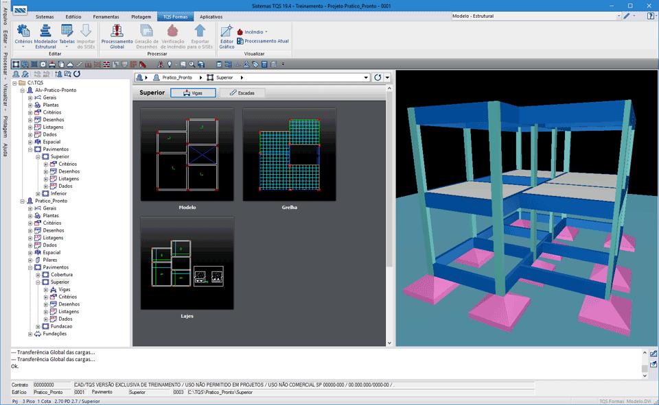 Dimensionamento de uma estrutura de concreto armado para uma residencia de um pavimento 3